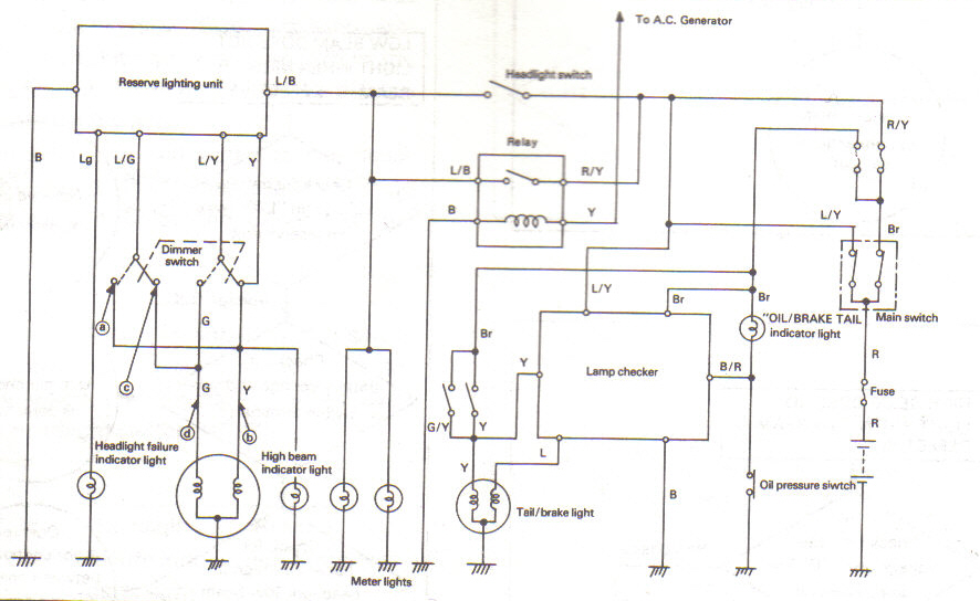 lampcheck the yamaha triples community workshop electrical 1975 xs650 wiring diagram at gsmx.co